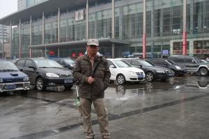 Di depan station kereta Chengdu (HJ)